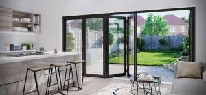 conservatories in lichfield - bi-fold doors