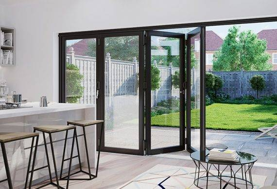 conservatories in lichfield - bi-fold doors